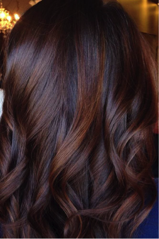We're in the mood for rich hot chocolate: drinks AND hair.