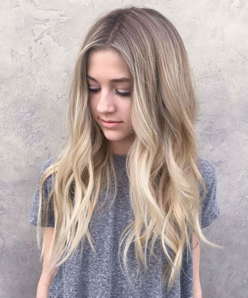 If you're a natural dirty blonde, a balayage can make your ends pop